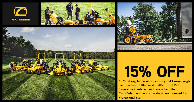 American Pride Power Equipment Cub Cadet April Pro Promotion 2020
