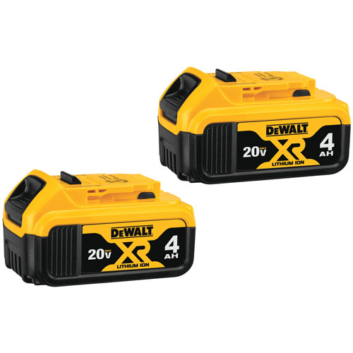 American Pride Power Equipment Zanesville Ohio USA De-Walt 20V MAX* XR® LITHIUM ION Batteries DCB204-2