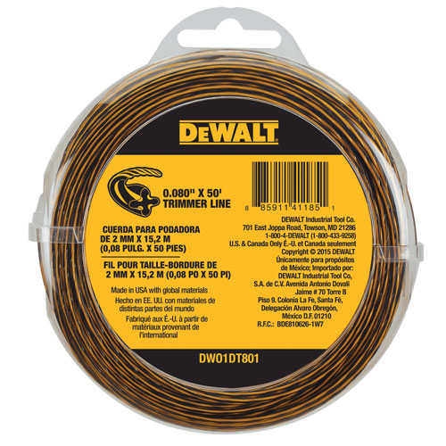 De Walt String Trimmer Line 50 ft