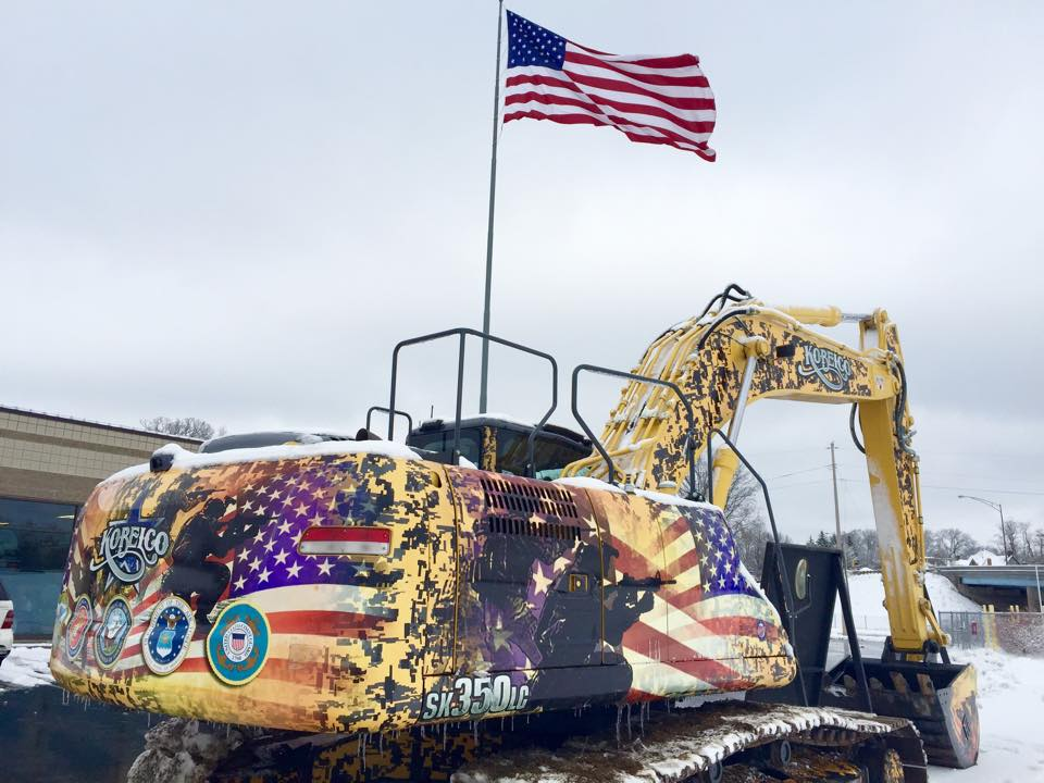 Wounded Warrior Fund Kobelco SK350LC Excavator